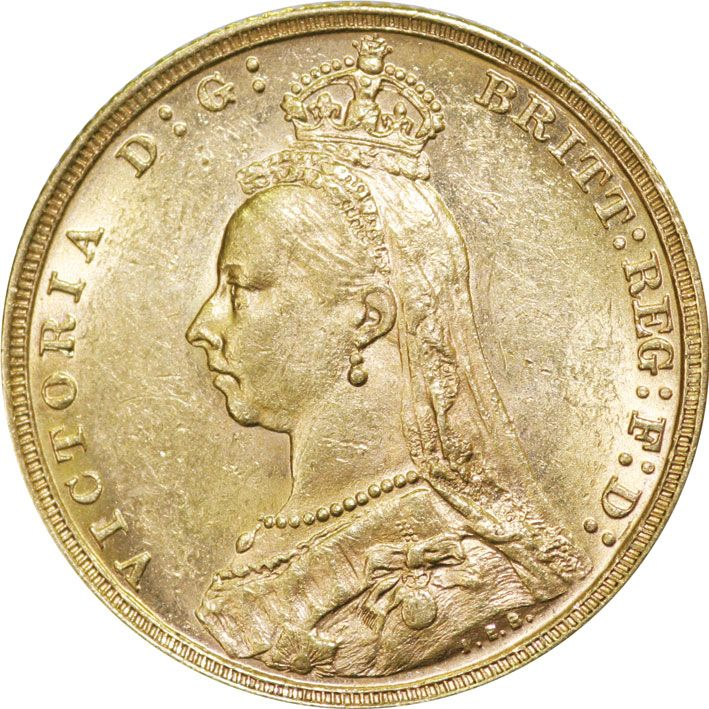 Victoria Jubilee Head Gold Sovereign 1887-1893