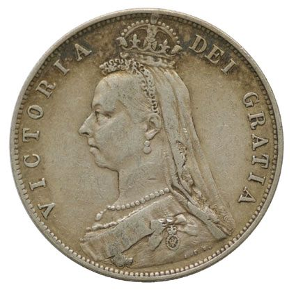 Victoria Jubilee Head Halfcrown coin 1887-1892