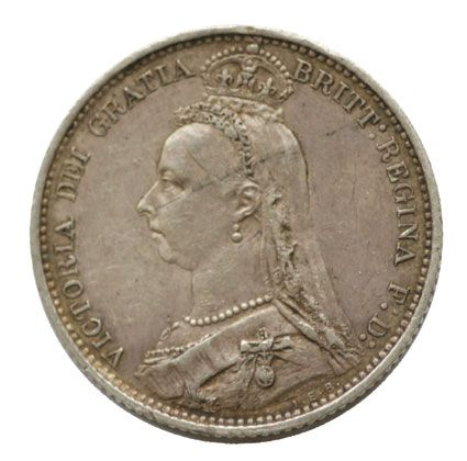 Victoria Sixpence 1887 coin in very fine condition