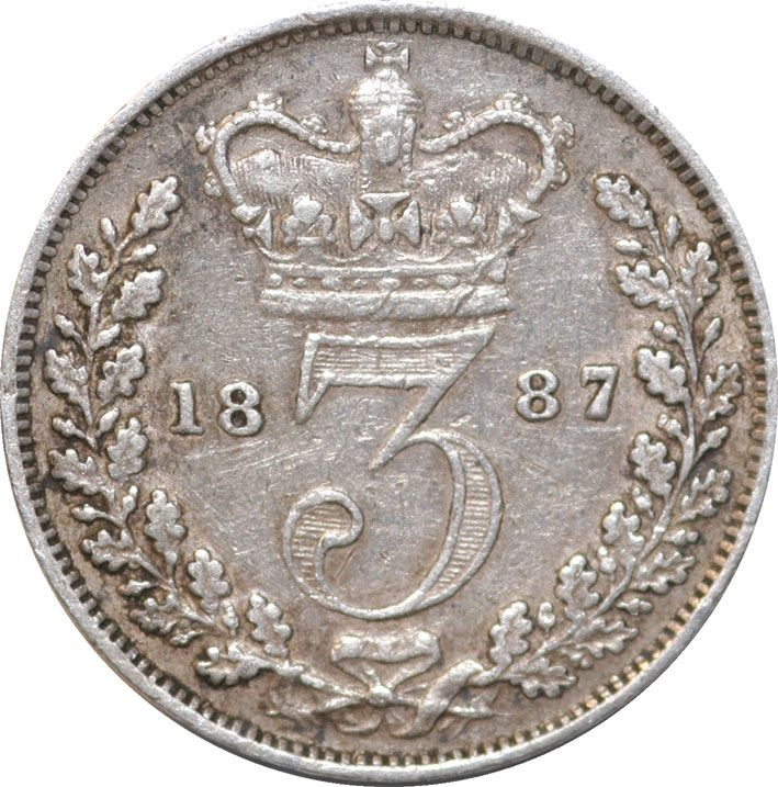 Victoria Young Head Silver Threepence 1859-1887
