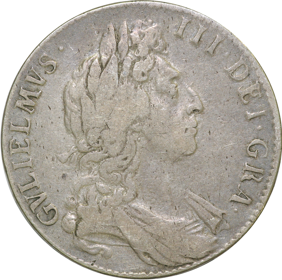 William III 1689 - 1701 Halfcrown in F/VF Condition